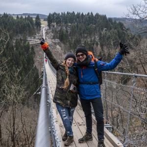 Die Hängeseilbrücke - 360m lang