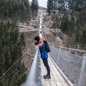 Auf der Geierlay Hängebrücke - Längste Hängebrücke in Deutschland
